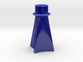 Candle Holder GK in Gloss Cobalt Blue Porcelain