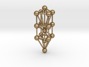 """3D Tree Of Life 1.75"""" in Polished Gold Steel"""