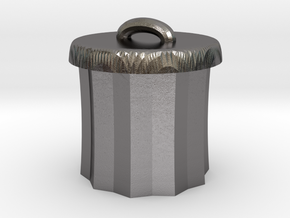 Power Grid Garbage Pails - One Pail in Polished Nickel Steel