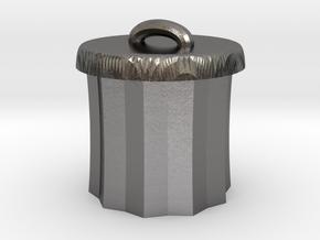 Power Grid Garbage Pails - One Pail in Polished Nickel Steel
