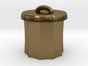 Power Grid Garbage Pails - One Pail in Natural Bronze