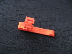 Pen Clip: for 13.5mm Diameter Body in Orange Processed Versatile Plastic