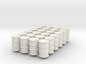 Power Grid Oil Barrels - Set of 24 in White Natural Versatile Plastic