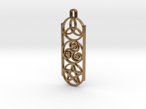 Symbols 1 by ~M. Keychain in Raw Brass
