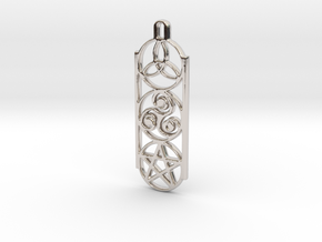 Symbols 1 by ~M. Keychain in Rhodium Plated Brass
