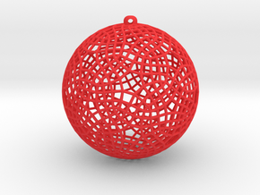 christmas wire ball in Red Strong & Flexible Polished