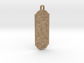 Symbols 2 by ~M. Keychain in Matte Gold Steel