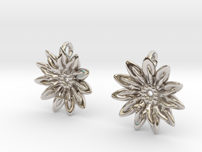 Paddles 11 Points Earrings - wLoopet in Platinum