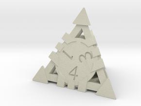 D4 - Andrew Bell 3d - Geometric Design 1 in Glossy Full Color Sandstone