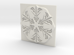 Snowflake in White Natural Versatile Plastic: Extra Small