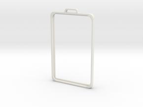 SimpleBadge in White Natural Versatile Plastic