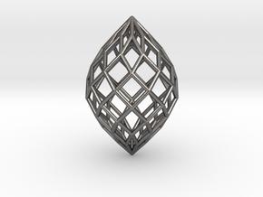 0497 Polar Zonohedron E [9] #001 in Polished Nickel Steel