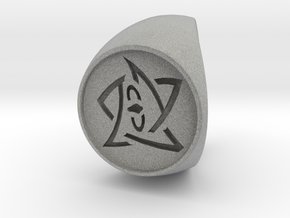 Elder Sign Ring Size 13.5 in Metallic Plastic
