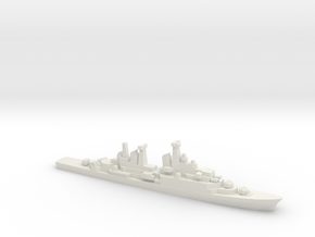 Hamburg-class destroyer (w/ Exocet AShM), 1/1800 in White Natural Versatile Plastic
