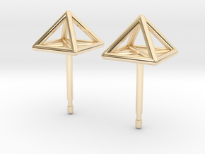 Square Stud Earrings in 14K Yellow Gold