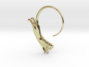Leaping Cat Earring in 18k Gold Plated