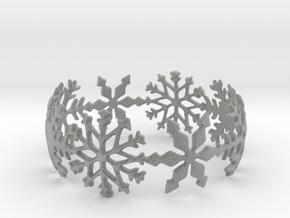 Snowflake Bangle in Metallic Plastic: Small