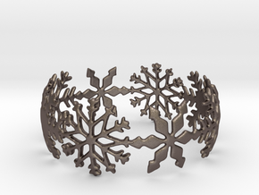 Snowflake Bangle (smaller) in Stainless Steel