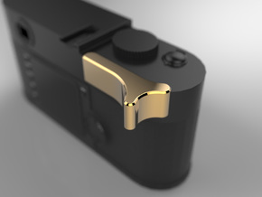 Leica M Camera Thumb Grip in 18k Gold Plated Brass