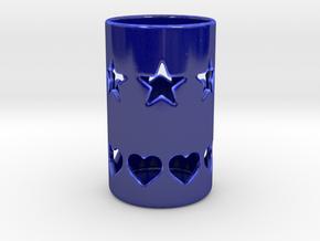 Candle Holder KK in Gloss Cobalt Blue Porcelain