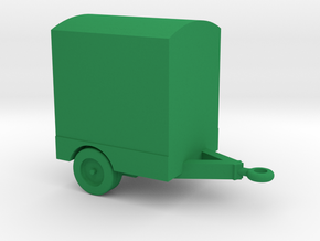 1/144 Scale Power Distribution Trailer in Green Strong & Flexible Polished