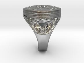 Piston Baroque in Natural Silver
