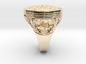 Piston Baroque in 14k Gold Plated Brass