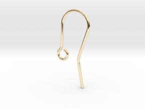 Earring Hook in 14k Gold Plated Brass