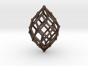0580 Polar Zonohedron V&E [7] #002 in Polished Bronze Steel
