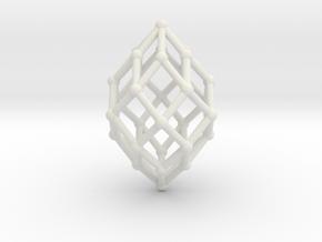 0582 Polar Zonohedron V&E [6] #002 in White Natural Versatile Plastic