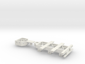 Booster Dolly Only; 3-Axle in White Natural Versatile Plastic