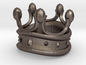 KING Small in Polished Bronzed Silver Steel