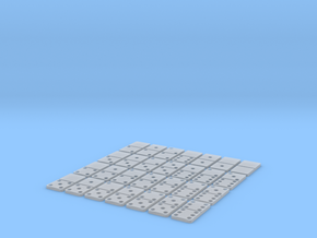 Dominoes double six in Smooth Fine Detail Plastic