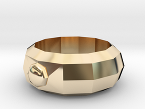Mega Ring in 14k Gold Plated Brass