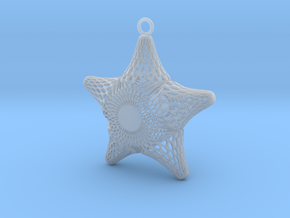 Snowflake Diatom in Smooth Fine Detail Plastic