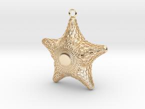 Snowflake Diatom in 14k Gold Plated Brass