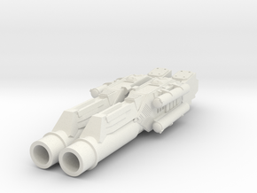 MERCUP 15mm - Apocalypse Tank Heavy Guns in White Natural Versatile Plastic