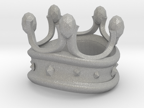 King Rook Ring in Aluminum: Small