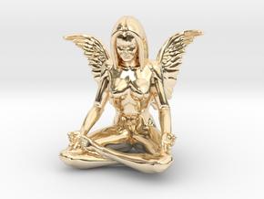Angel-45mm Angel.STL in 14k Gold Plated Brass