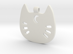 Sailor Kitty Pendant in White Natural Versatile Plastic