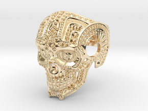 Skull with settings in 14k Gold Plated Brass