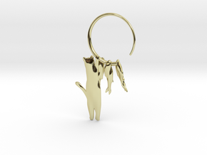 Fishing Cat in 18k Gold Plated Brass