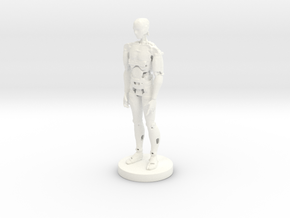 Printle Classic Robot In Moov 01 in White Strong & Flexible Polished