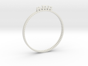 Bracelet Train Nr3 in White Natural Versatile Plastic