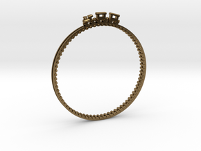 Bracelet Train Nr3 in Polished Bronze