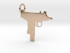 UZI Keychain in 14k Rose Gold Plated