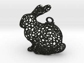 Rabbit Keychain in Black Strong & Flexible