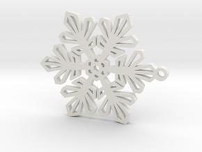 Snowflake pendant in White Natural Versatile Plastic