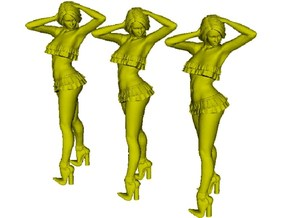 1/50 scale nose-art striptease dancer figure A x 3 in Smoothest Fine Detail Plastic