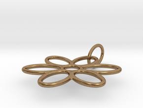 Flower Pendant Wire in Natural Brass (Interlocking Parts)